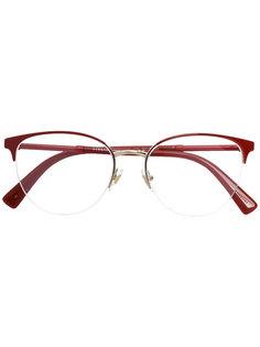очки в круглой оправе Versace