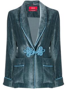 frogging trim velvet jacket F.R.S For Restless Sleepers