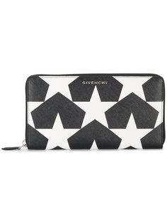 кошелек на круговой молнии с принтом со звездами Givenchy