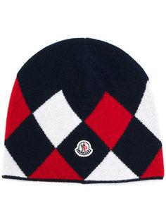 шапка с ромбовидным узором Moncler