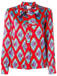 блузка с цветочной вышивкой и завязкой  Ultràchic