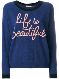 Life Is Beautiful sweater Alice+Olivia