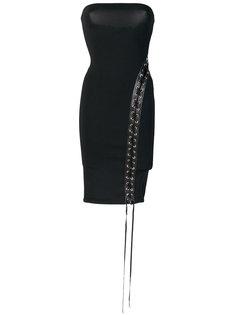 платье бандо со шнуровкой  Alexandre Vauthier