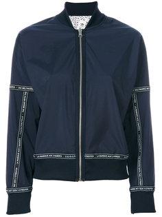 куртка-бомбер с принтом текста Adidas Originals