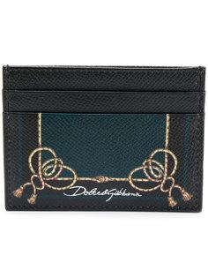 визитница с веревочным принтом Dolce & Gabbana