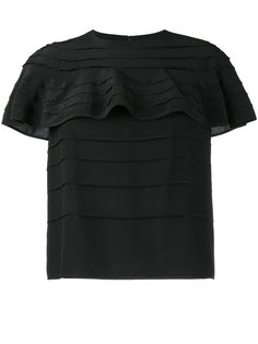 футболка с оборками Valentino