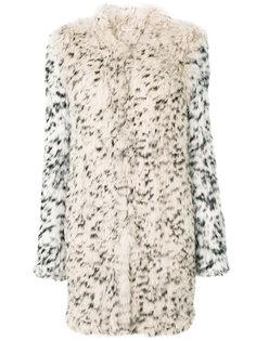 leopard print fur coat Ulla Johnson