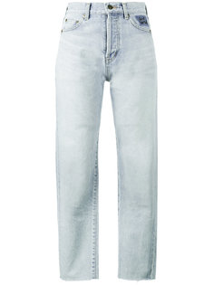 джинсы с необработанными краями Saint Laurent