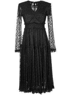 foiled lace frilled dress G.V.G.V.