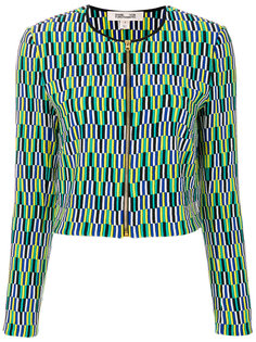 пиджак на молнии с вышивкой  Diane Von Furstenberg