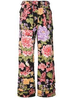 брюки с цветочным принтом Dolce & Gabbana Vintage