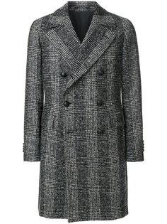 двубортное пальто в полоску Tagliatore