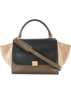 трапециевидная сумка дизайна колор-блок Céline Vintage