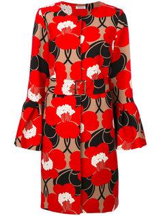 пальто с цветочным принтом и расклешенными манжетами  P.A.R.O.S.H.