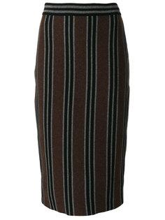 юбка-карандаш в полоску  Antonio Marras