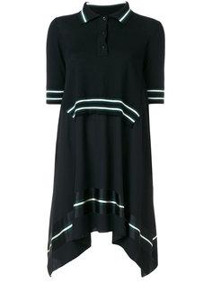 ярусное платье с воротником-поло  IM Isola Marras