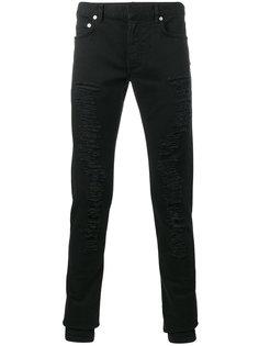 рваные джинсы узкого кроя Dior Homme
