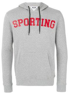 худи с надписью sporting MSGM
