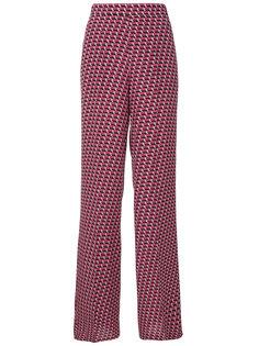 брюки-палаццо с геометрическим принтом  Etro