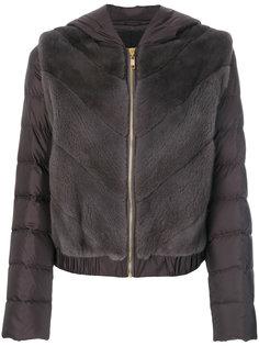 дутая куртка с капюшоном  Liska