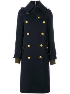 двубортное пальто милитари  Sacai