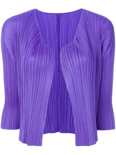 pleated short cardigan  Pleats Please By Issey Miyake