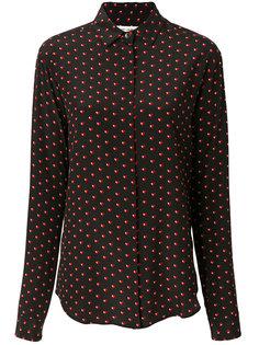 рубашка в принт с сердцами Saint Laurent