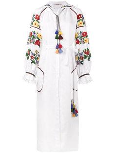 платье букле с цветочной вышивкой  Vita Kin
