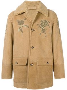 пальто из овчины с вышивкой  Alexander McQueen