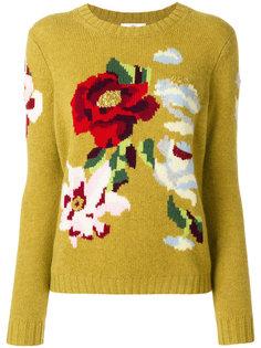 свитер с цветочной отделкой  Allude