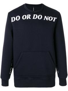 свитер Do or do not Neil Barrett