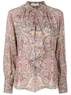 блузка с принтом пейсли и оборкой  Etro