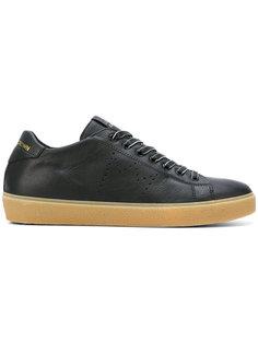 кроссовки с перфорированным логотипом Leather Crown