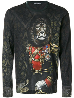 Royal Pet Portrait sweatshirt Dolce & Gabbana