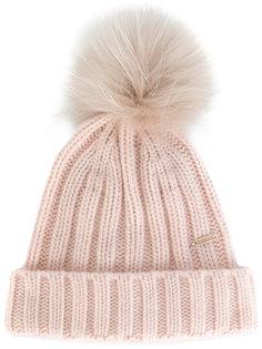 шапка с меховым помпоном Woolrich