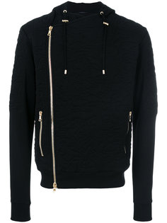 camouflage embroidered hoodie Balmain