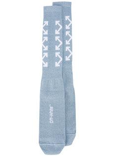 удлиненные носки с крестами из стрелок Off-White