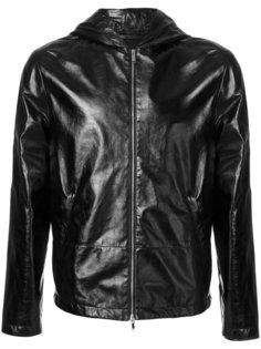 кожаная куртка с капюшоном Valentino