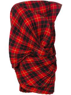 клетчатый топ на одно плечо Junya Watanabe Comme Des Garçons