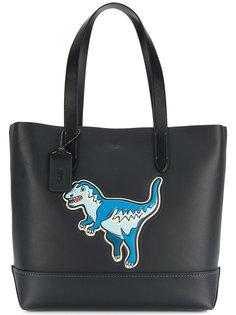 сумка-тоут с принтом динозавра Coach
