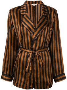 полосатый пиджак в пижамном стиле Gold Hawk