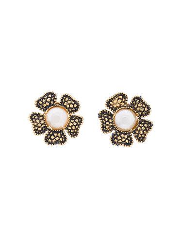 цветочные жемчужные серьги Chanel Vintage