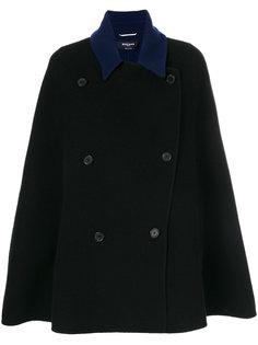 пальто-кейп с контрастным воротником  Rochas