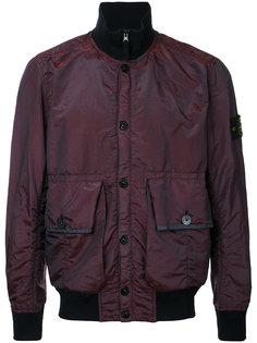 куртка-бомбер  с заплаткой на рукаве Stone Island