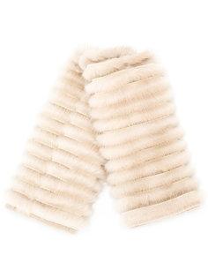 шарф с меховой деталью Agnona