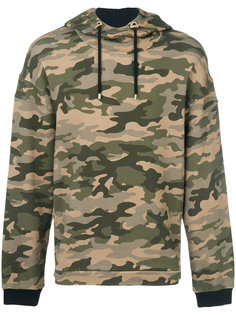 camouflage print hoodie Balmain