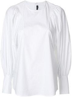 рубашка с присборенными рукавами  Joseph