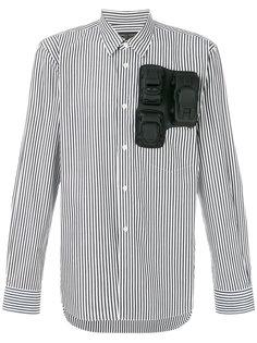 полосатая рубашка с объемными аппликациями Comme Des Garçons Homme Plus