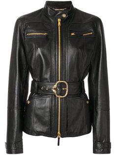 классическая байкерская куртка на молнии  Roberto Cavalli
