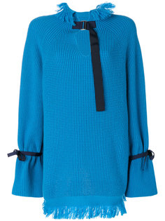 свитер с декоративными стяжками Sacai